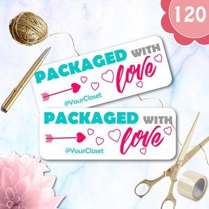 120 Personalized LoveThank You  Stickers